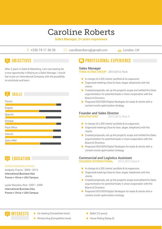 This simple resume lay out is all you need to land that dream job!