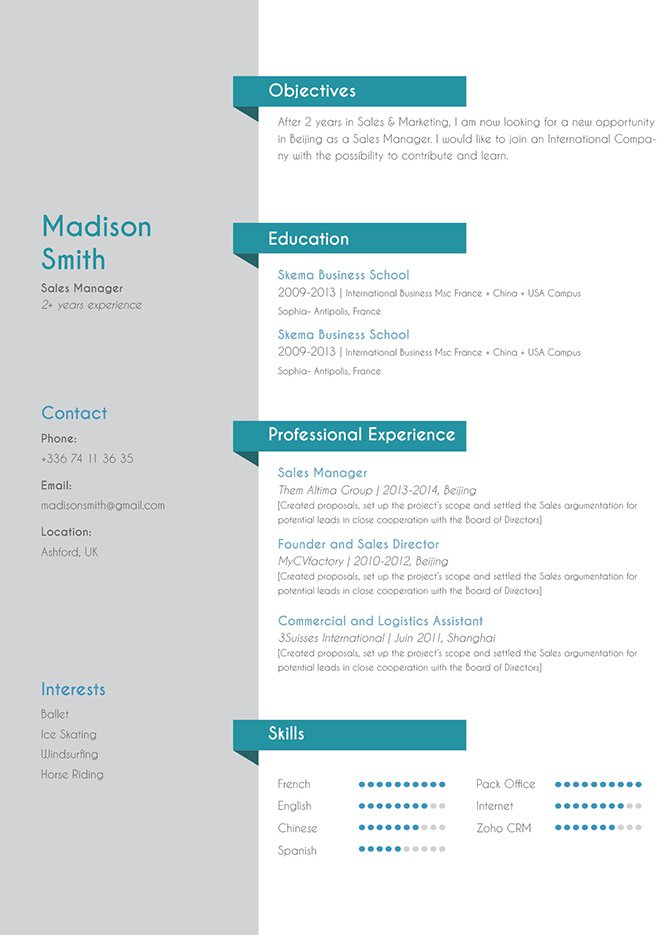 A school resume template that is perfect for any type of job
