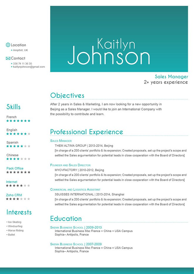The prefect good resume template to land that dream job