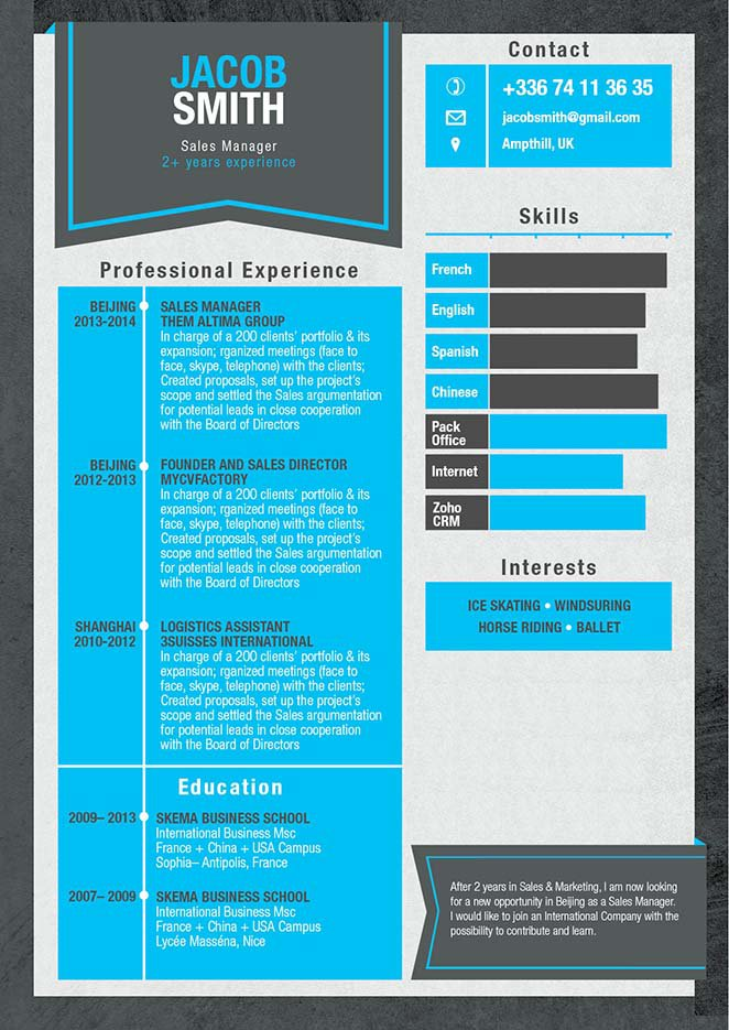 This template has all the merits of a great resume.