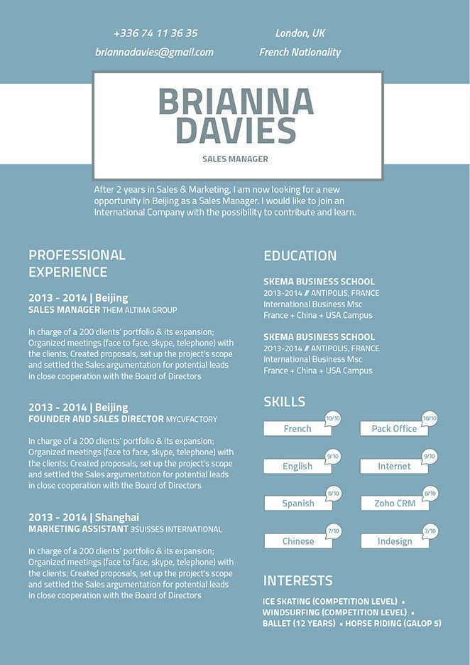 This template has a resume design that has a clean and comprehensive format that will win over any recruiter.