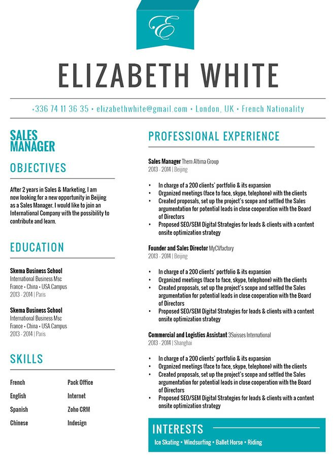 This Resume Format Has A Clean Design Made For Winners