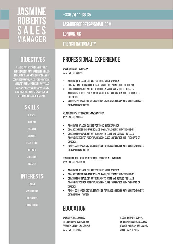 Blow your competiton away with this professional resume template