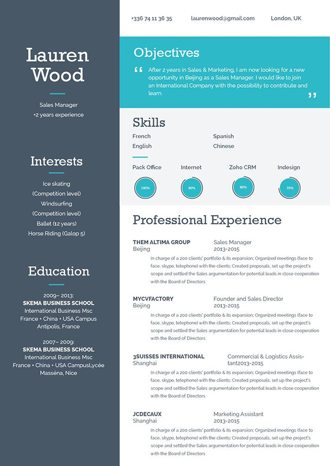 Good resume with a good format for all job types