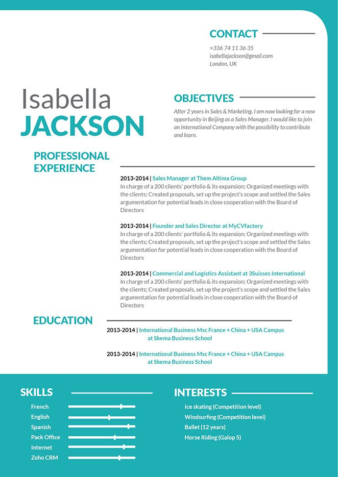 You need a great resume to grab a great job! And this template provides it!