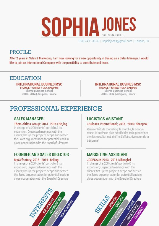 The format in this great resume make for a functional and effective design