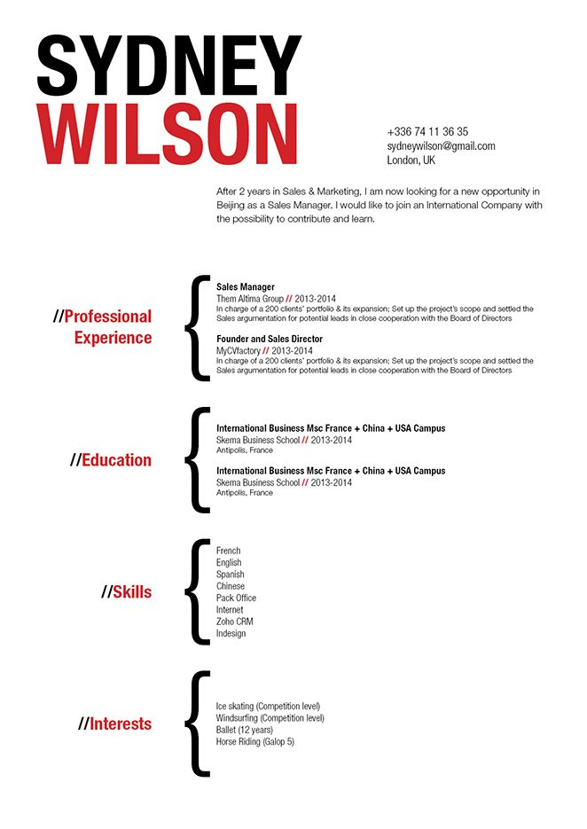 A clean format that is functional is greatly present in this good resume template