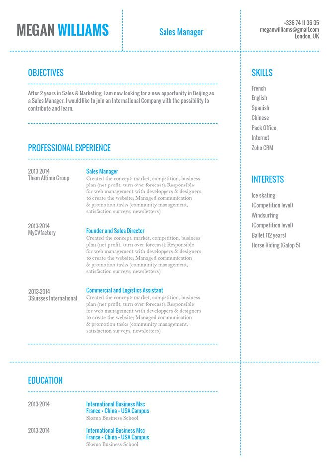 This business resume templates features a fucntiona format that is sure to get you hired!