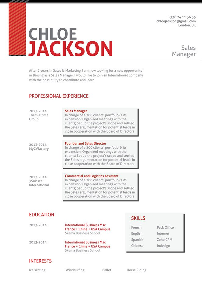 Delightful A Resume Template With A Great Lay Out And Format Made For The Modern Work  Age