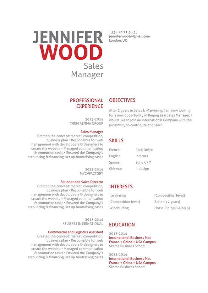 chinese cv template vatoz atozdevelopment co