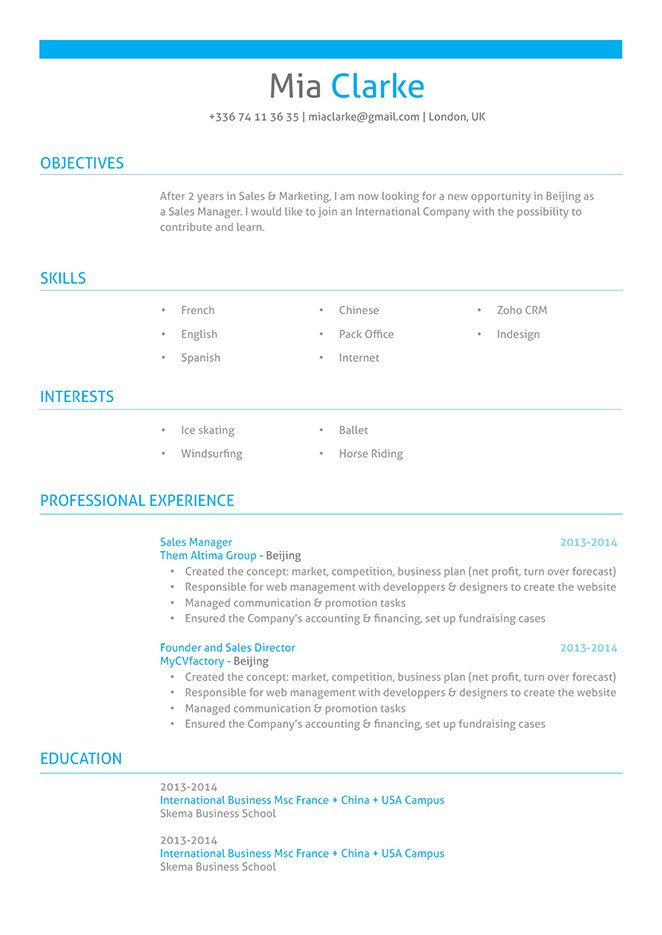 The clean format and comprehensive design make for the perfect professional resume template