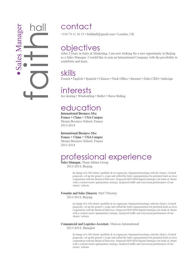 The great resume template you need! Comprehensive and functional format