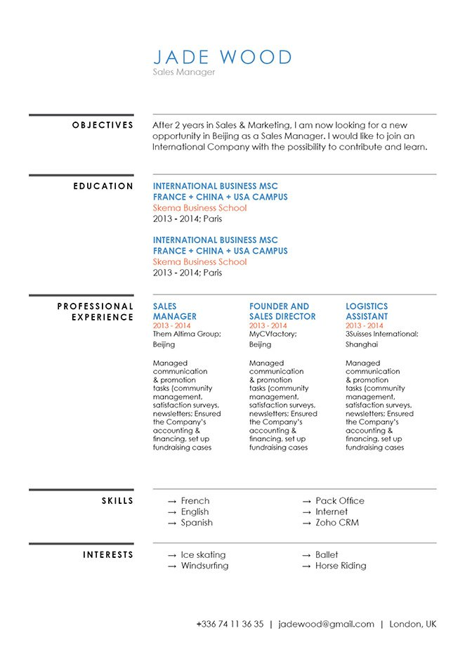 Grab that dream opportunity with a good resume template