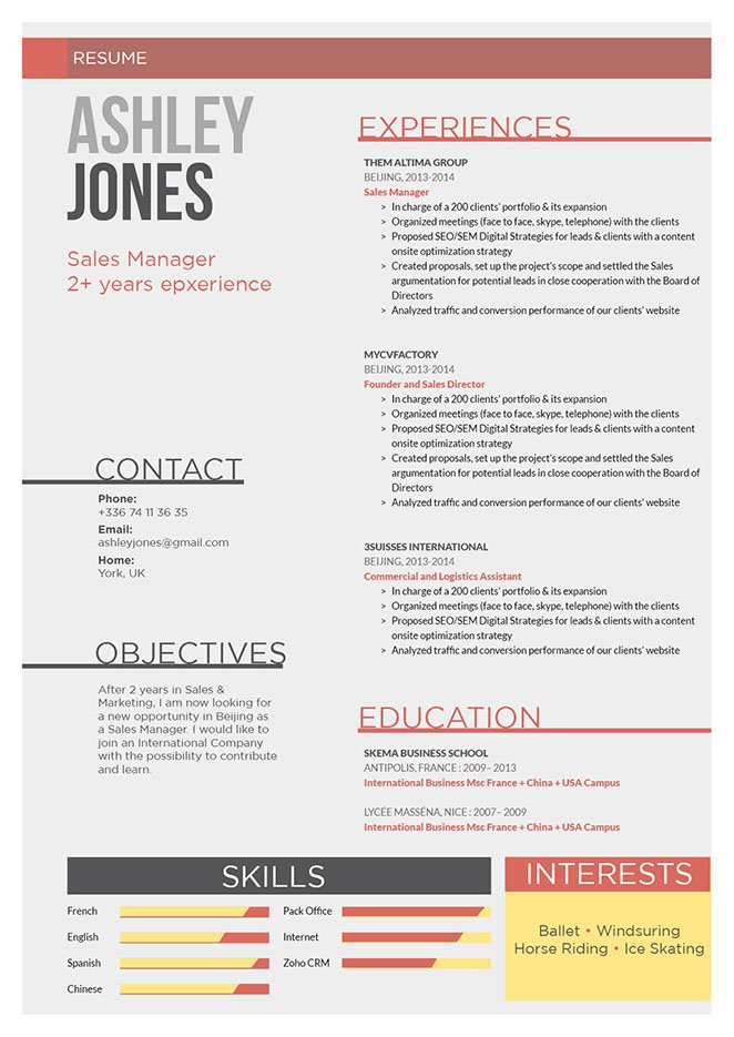 From top to bottom, this work resume template is perfect!