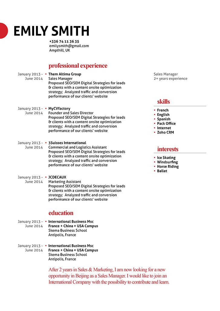 The formatting and design keeps this resume template effective and creative