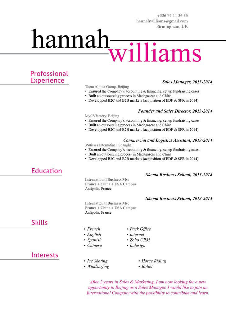 The clean format makes this functional resume template a great fit!
