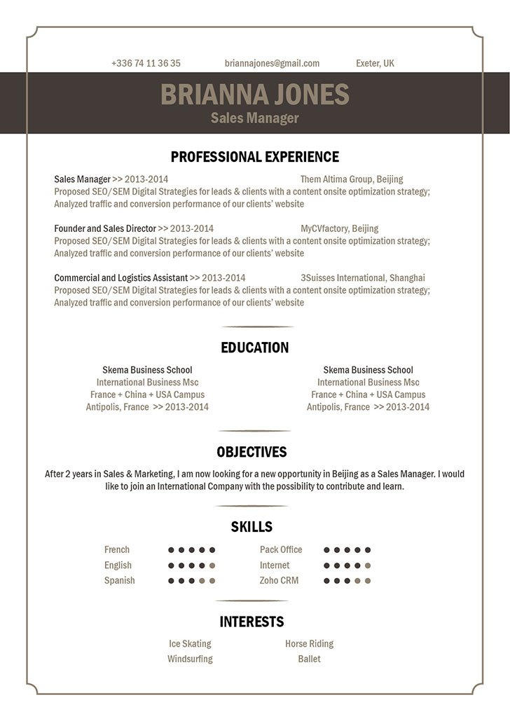 The Best Resume Format Out There! Straight To The Point And Effective!