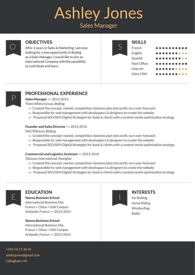 A simple resume format made for the modern worker!