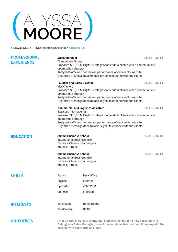 This good resume has all the building blocks to create that perfect format