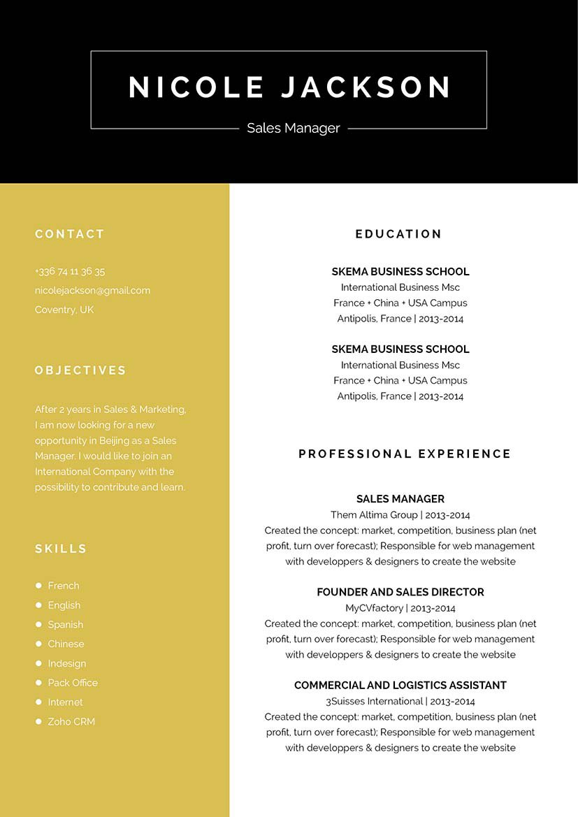 Start building that great resume with this professional template!