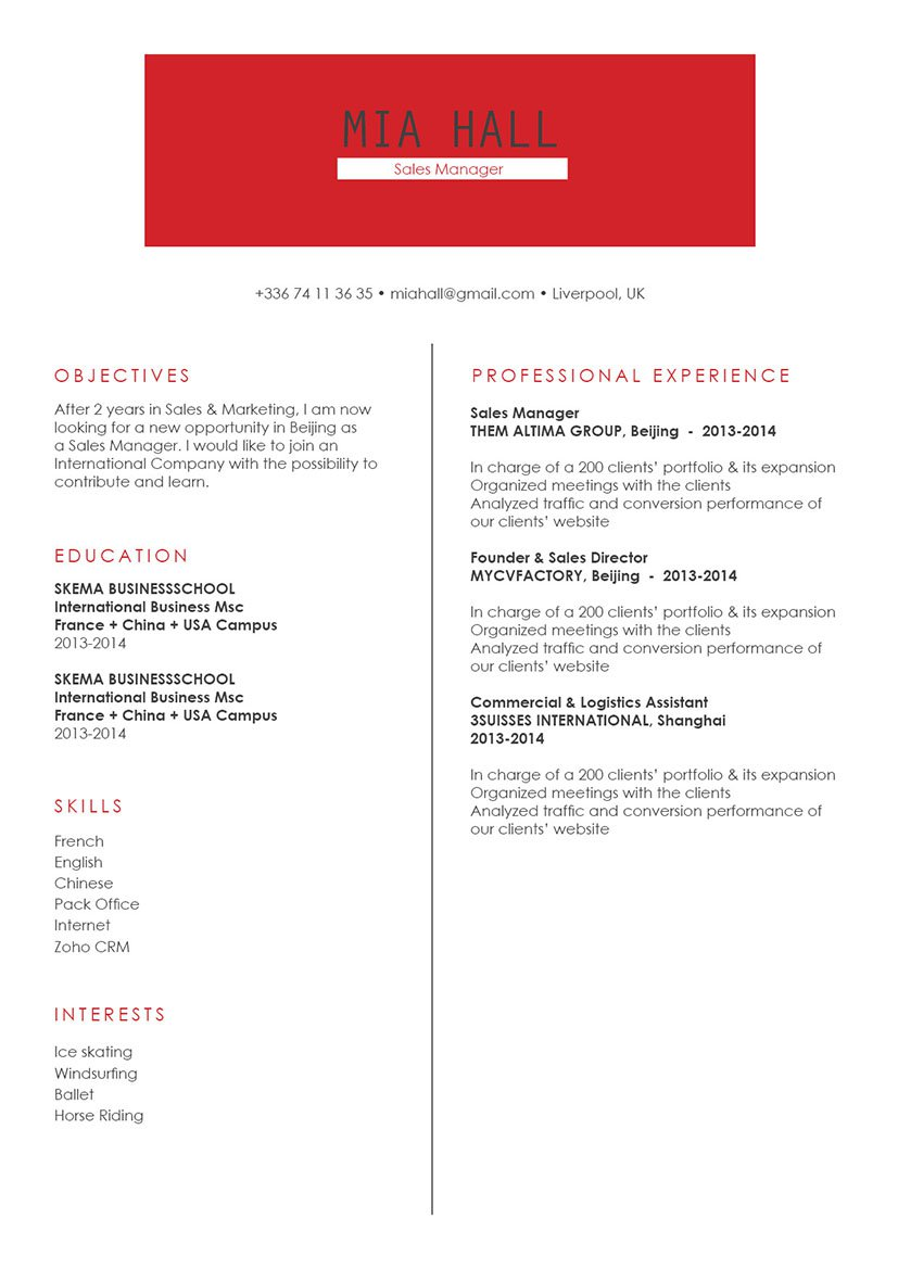 This business resume template has a professional format made to get you hired