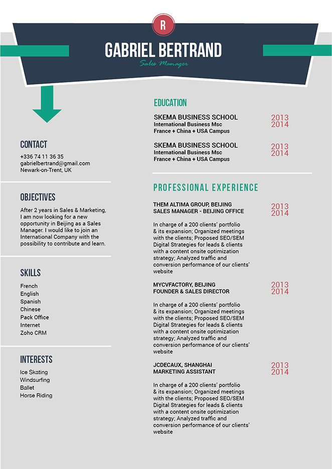 This professonal resume template come with an awesone format for all job types!