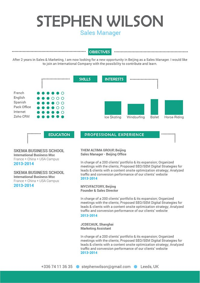 Formatted with great skills and expertise, this cv template is sure to land you that dream job!