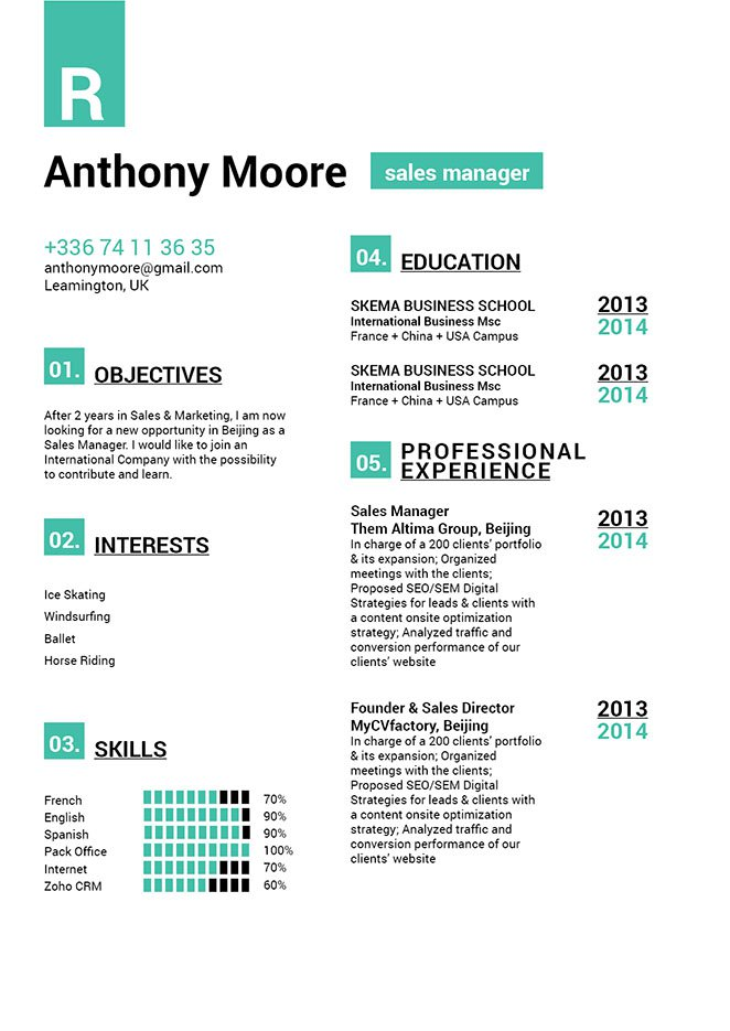 A easy resume template, with a functional format made for the modern worker