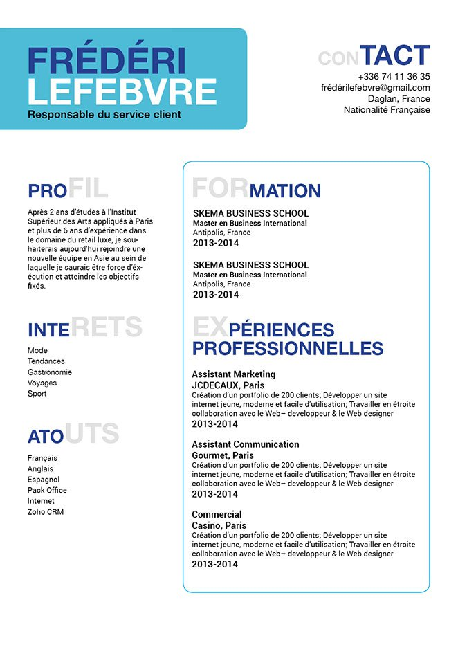 cv en ligne  u00ac