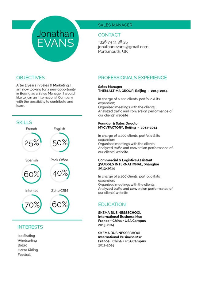 Get hired fast with this the use of this resume format! Create the perfect resume!