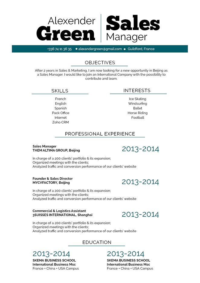 Attract all recruiters with a good resume!