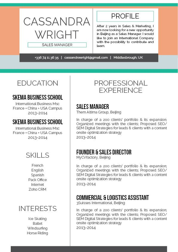 A good resume template with an equally good layout!