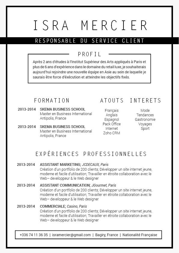 cv en ligne