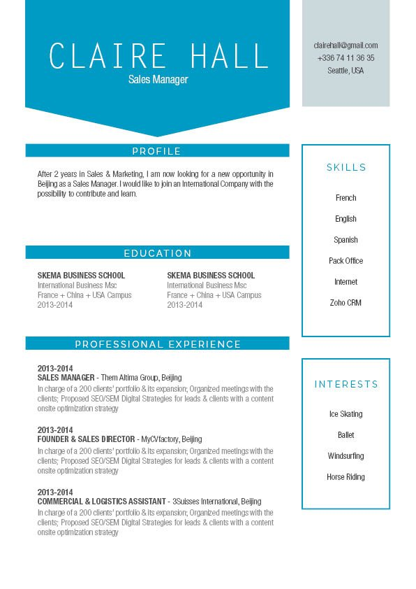 Blow away your competition with this resume template!
