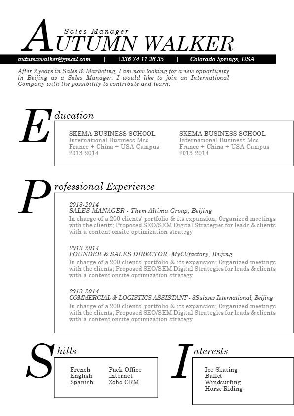 A clean and straight forward layout makes this an effective resume template to create that effective resume!