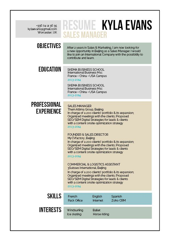 The format and layout will make for a great simple resume!