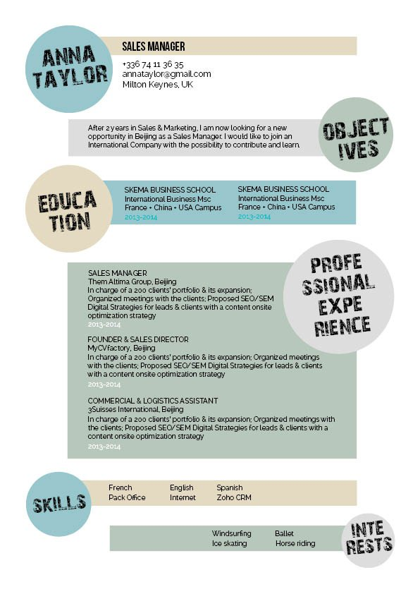 The best resume format with the best professional layout for the modern worker!