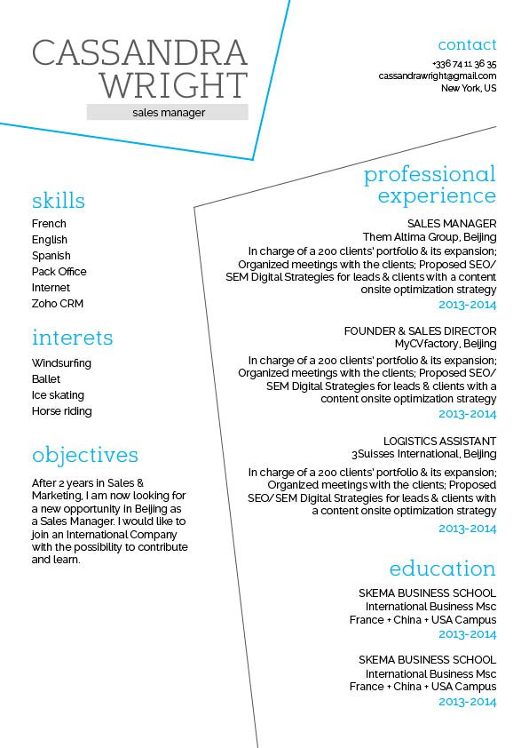 Easy Resume Template Crazy Resume  Mycvfactory