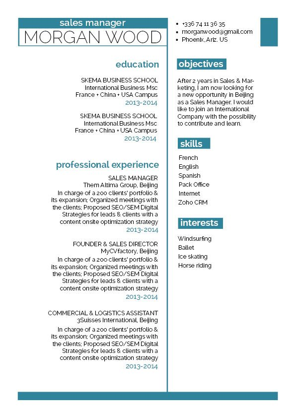 You are sure to get hired when using thisg reat resume template!