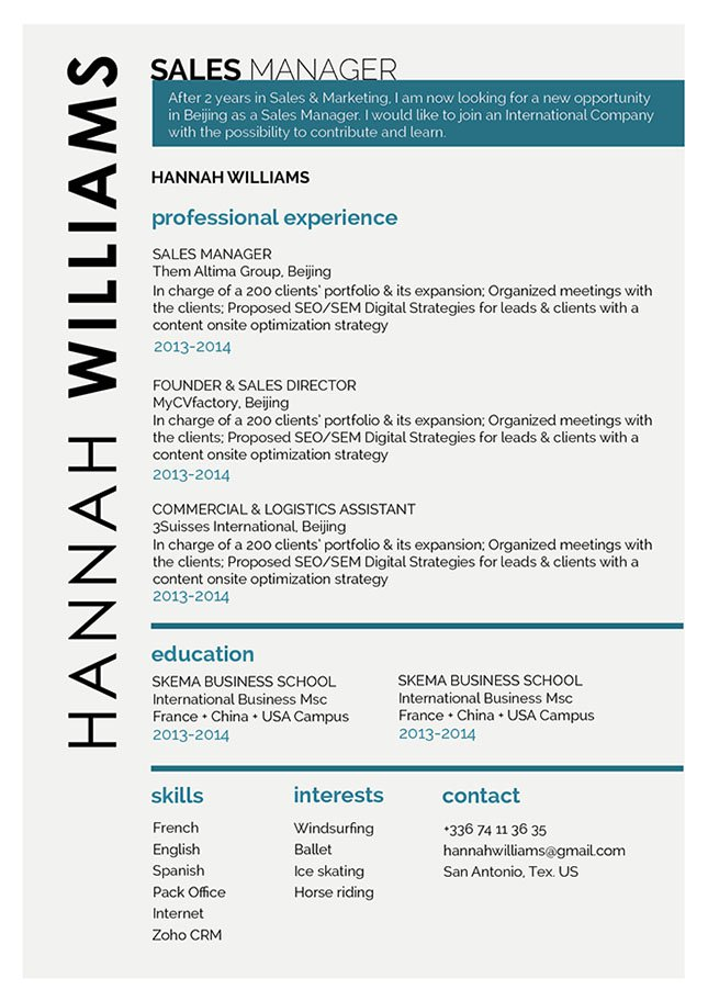 Formatting and layout is excellently done in this great resume.
