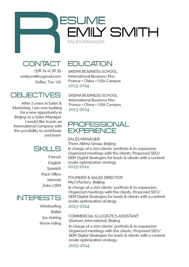 A good resume| Geek-ish Resume · myCVfactory