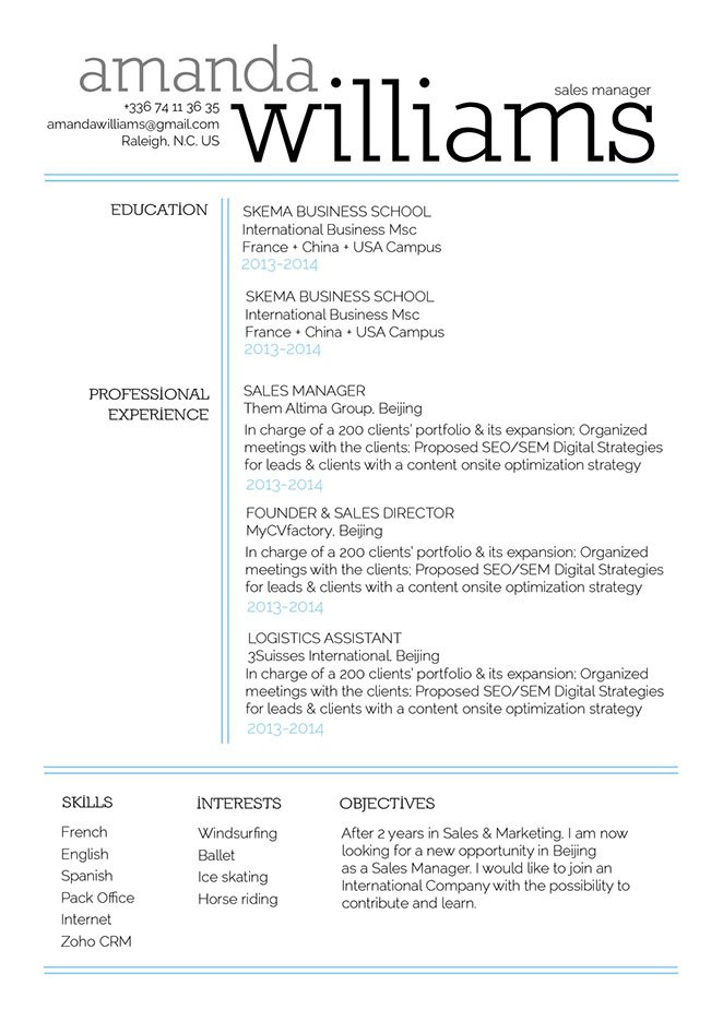 A clean format and an effective choice of colors and styles make this professional resume a perfect choice for the modern worker!