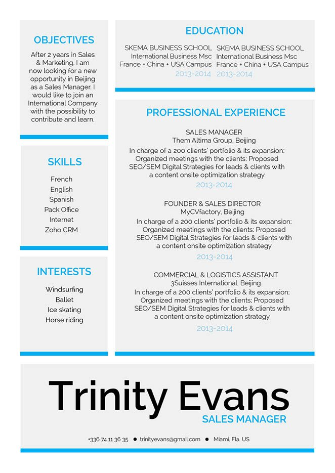 A profesional resume format made for the modern worker!