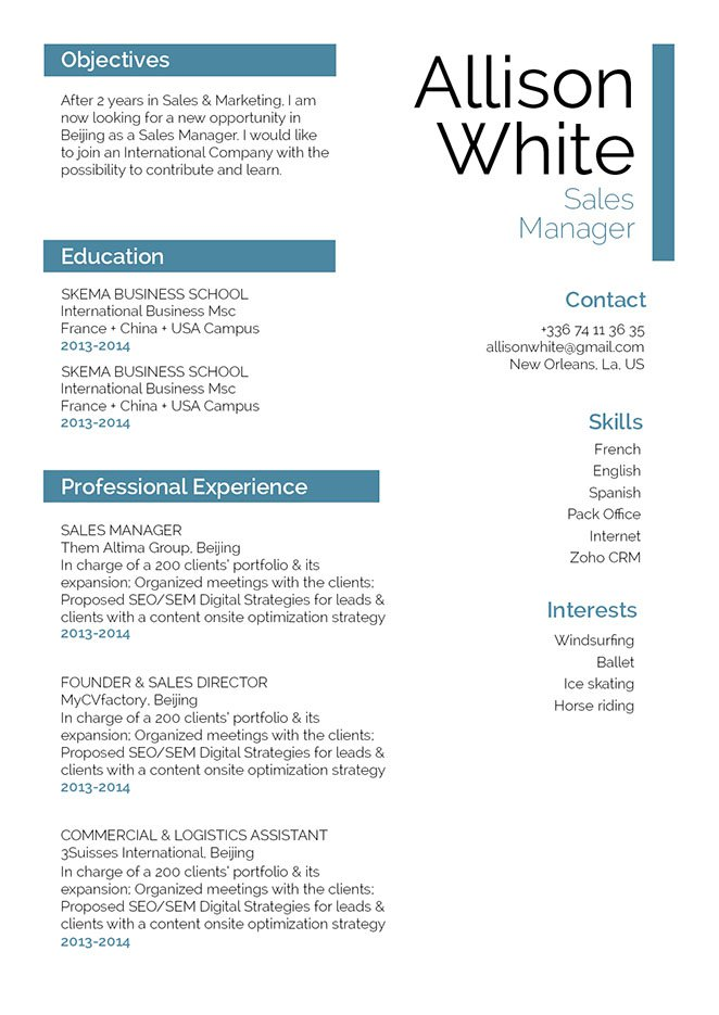 Make Your Career Great With This Professional Resume Format