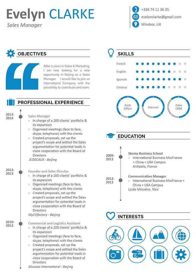 A business resume template that is applicable to any job type in the field.