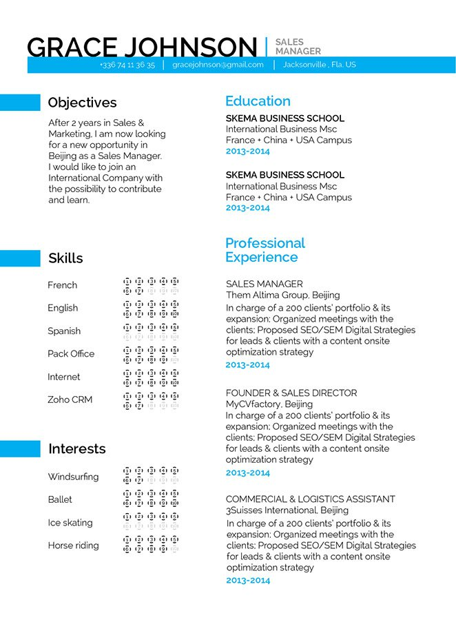 Look no further because this simple resume template is best choice!