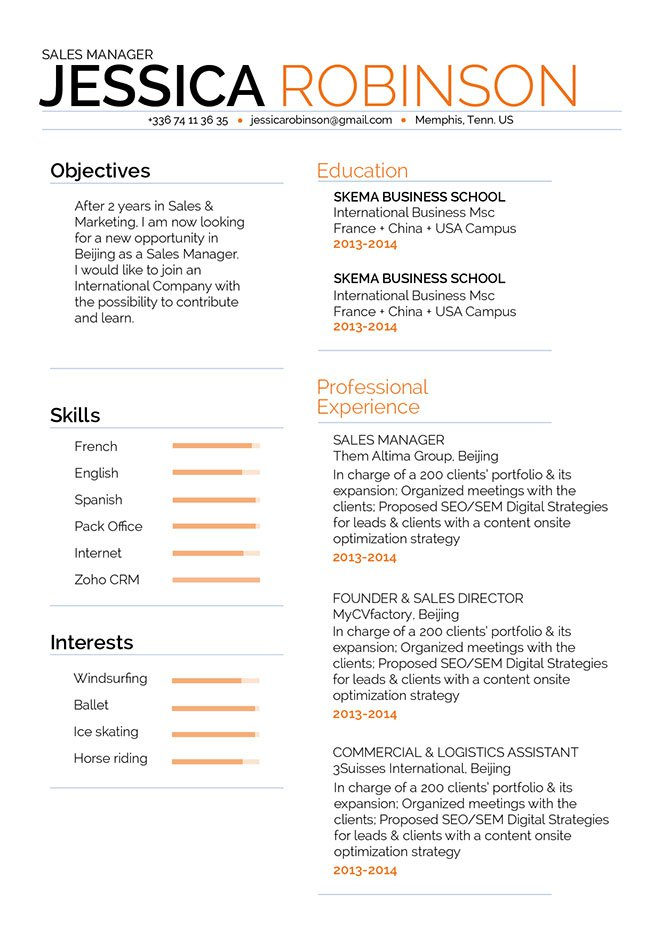 Get that dream job, Choose this good resume template!
