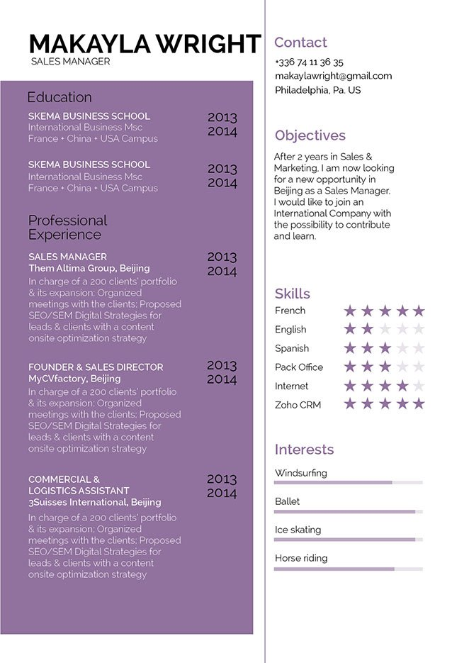 Your recruiter will be impressed with this good resume template
