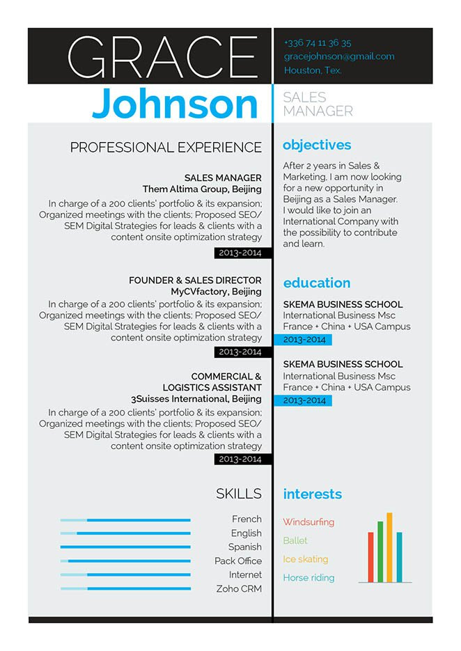 This is one resume template with an excellent cv format for all sectors