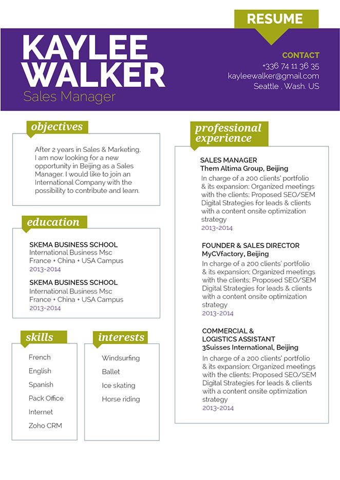 No need to struggle in creating a great resume, this template is all you need and more